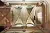Église de la Sainte-Trinité, vue du plafond vouté en ogives avec arcs doubleaux en plein cintre, 2007