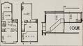 Avenue de l'Université 92, plan et coupe du duplex,© Bâtir, 70, 1938, p. 402.