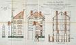 Rue de la Source 13, élévations et coupes, ACSG/Urb. 84 (1928).