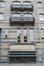 Square de l'Aviation 29-31-33 - rue Lambert Crickx 2, bâtiments de l'anc. La Prévoyance Sociale, détail façade rue L. Crickx, 2015