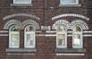 Rue des Citoyens, détail sur une des façades conçu en 1907, 2018