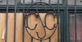 Rue des Mégissiers 21-23, initiales, 2015