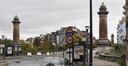 Pont du Jubilé, vue vers le boulevard Émile Bockstael, ARCHistory / APEB, 2017