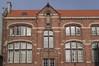Rue Vandernoot 52 - rue Haeck 61, Sint-Jozefschool, detail de la façade côté rue Vandernoot, 2015