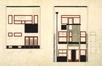 Avenue Seghers 103, élévations de la façade avant et de la façade arrière, 1925© © Fondation CIVA