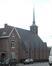 Rue Baron Guillaume Van Hamme 33, église Saint-Paul vue depuis la rue du Merlo, 2021