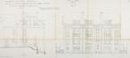 Rue des Alliés 25-27, 29-31, 33-35, 37-39, 41-43, 45-47, élévation façade latérale et principale© ACF/Urb. 8219 (1924)