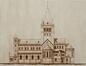 L'église Saint-Augustin, projet de l'église, architecte Edmond Serneels, 1914, Archives de l'église paroissiale Saint-Augustin de Forest