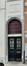 Avenue des Armures 27, détail de la porte, de l'imposte et de l'inscription, 2016