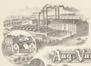 Rue de Belgrade 30, papier à lettres avec illustration de la fabrique de colles, façade donnant sur la rue de Belgrade, à l'arrière de l'avenue Van Volxem.© ACF/Urb. 5111 (1910)