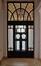 Avenue Besme 103, hall d'entrée avec double porte et vitraux, 2016