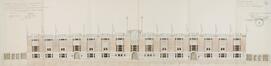 Chaussée de Bruxelles 221-223-225, stade Joseph Marien, élévation à rue© ACF/Urb. 8954 (1926)