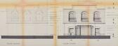 Rue de Hal 11, ancien cinéma Kursaal, élévation projetée en 1928© ACF/Urb. 21494 (1928).