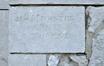 Avenue VanVolxem3, inscription dans la soubassement «?J. [ules] MUNSTER Arch. à Forest?», 2019