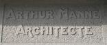 Avenue de Broqueville 131, signature de l'architecte, 2020