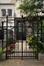 Avenue Albert Jonnart 17, détail de la grille de la zone de recul, 2011