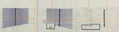 Elévations des pignons et coupe des garages des n° 2-4 et n° 6-8-10 © (ACWSL/Urb. 12968 (1978)