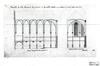 Rue de la Charité 41-45, Chapelle Ste-Julienne. Coupe transversale et longitudinale (coll. Katholieke Universiteit Leuven)