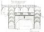 Chaussée de Louvain 195, anc. gare de chemin de fer. Projet de 1884 (coll. SNCB no 420.008)