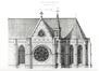 Église du Gésu. Elévation de la façade sud (l'Émulation, 1876, pl. 37)