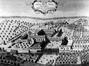 L'abbaye de la Cambre et la cour d'honneur baroque, d'après Sanderus, 1726© (Archives paroissiales de la Cambre)