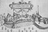 L'abbaye de la Cambre en 1610. À gauche, les bâtiments de l'infirmerie et de l'école abbatiales© (gravure extraite J.-B. Gramaye, Antiquitates illustrissimi ducatus Brabantiae)