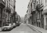 Wolstraat, straatbeeld naar Héger-Bordetstraat, 1980