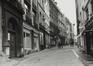 Rue de Rollebeek, numéros pairs, vue depuis la rue Haute, 1980
