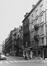 rue Antoine Dansaert, n° pairs, vue depuis le Vieux-Marché-aux-Grains vers la rue A. Orts., 1979