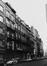 rue Antoine Dansaert, n° impairs, vue depuis le Vieux-Marché-aux-Grains vers la rue A. Orts., 1978