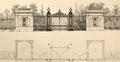 Parc Léopold, plan et élévation des pavillons d'entrée, par G. Bordiau© L'Émulation, 1876, pl.32