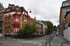 Rue des Chrysanthèmes, vue de la fin de la rue depuis la rue des Horticulteurs, 2017