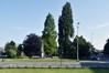Square Clémentine, vue depuis le boulevard Bockstael© ARCHistory / APEB, 2018
