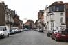 Rue Dieudonné Lefèvre, vue de la fin de la rue vers le boulevard Bockstael© ARCHistory / APEB, 2017