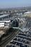Vue depuis l'Atomium des voies de métro et de tram menant à la station Heysel, bordant l'avenue Impératrice Charlotte© ARCHistory / APEB, 2018