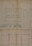Rue Médori 58, élévation à rue et plan terrier© AVB/TP Laeken 2388 (1866)