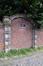 Mellerystraat portiek uit 1688 ingewerkt in de omheiningsmuur van het Koninklijk domein, 2017