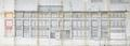 Rue Meyers-Hennau 5-11, fabrique M. Kouperman, projet d'extension au no17, élévation© AVB/TP 80877 (1969)