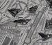 Détail du Nouveau Plan de Bruxelles industriel avec ses Suburbains, édité par Jules De Waele en 1910 et figurant, respectivement à gauche et au centre, la Chocolaterie Derbaix Frères et les Établissements Brabandt & Cie, 2017