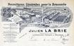 En-tête de lettre de la firme Julien La Brie, figurant à gauche l'établissement de la rue de Molenbeek nos 96 à 102© AVB/TP Laeken 1076 (1896)