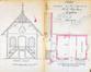 Rue de Molenbeek 151, élévation, coupe de la façade et plan d'un chalet aujourd'hui démoli© AVB/TP Laeken 3025 (1877)