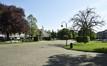 Square Jean Palfyn, vue de l'allée centrale vers l'est© ARCHistory / APEB, 2018