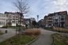 Place Alexandre Pouchkine, vue vers la seconde partie du boulevard Bockstael, 2017