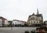 Place Lehon, vue vers l'église Saint-Servais, 2014