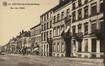 Rue des Palais, vue du côté impair à hauteur de la rue Rogier, AVB/CP