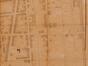 Les deux premiers tronçons de la future avenue Rogier, (POPP, P. C., Atlas du Royaume de Belgique, plan parcellaire de la commune de Schaerbeek, vers 1858)