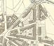 Détail du Plan de la commune de Schaerbeek 1899, figurant les deux tronçons originels de la rue Fraikin © ACS/TP