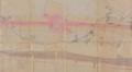 Plan de 1874 montrant le tracé de la rue du Maelbeek voûté, futures rues Metsys et Portaels, ainsi que l'ancien tracé du Maelbeek© ACS/TP 216