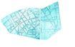 Plan d'aménagement urbanistique du quartier Berkendael, à cheval sur les communes d'Ixelles, Forest et Uccle, fixé par arrêté royal le 12.07.1902 (C. Boon et D. Van Ouwenhuysen)