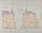 Elévations de l'ancienne villa no123-124 qui était située à l'angle de l'avenue Besme, architecte G. Huygens, 1912© ACF/Urb. 5786 (1912)